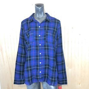 Mossimo XXL Purple Plaid Button Down Shirt
